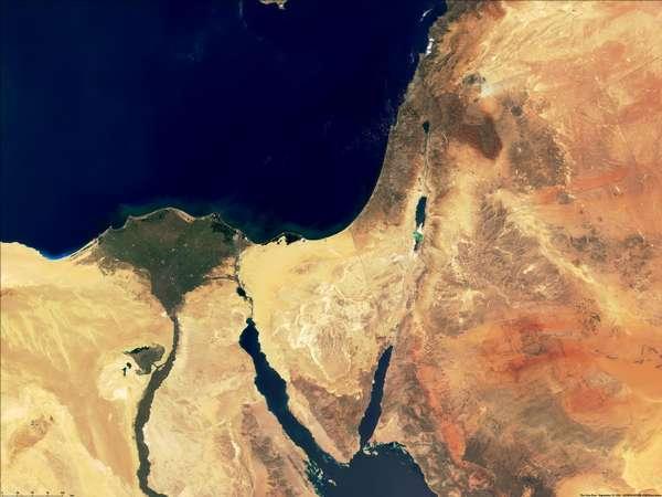 Resultado de imagen de israel desde la estacion espacial internacional