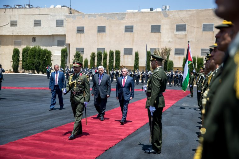 """מלך ירדן, עבדאללה, אצל יו""""ר הרשות הפלסטינית, אבו מאזן"""