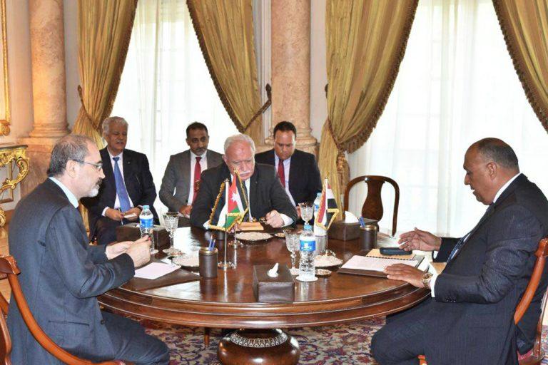 שרי החוץ של הרשות הפלסטינית, של מצרים ושל ירדן