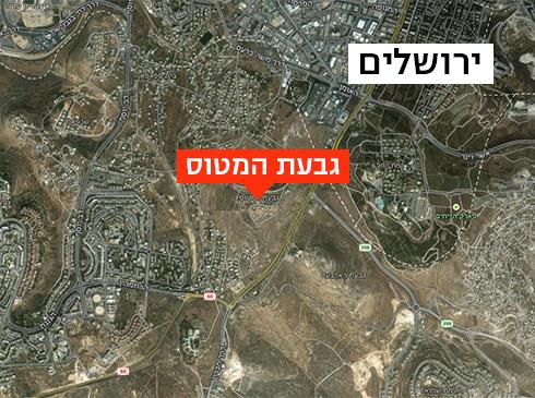 מפה: שכונת המטוס // צילום: גוגל מפות