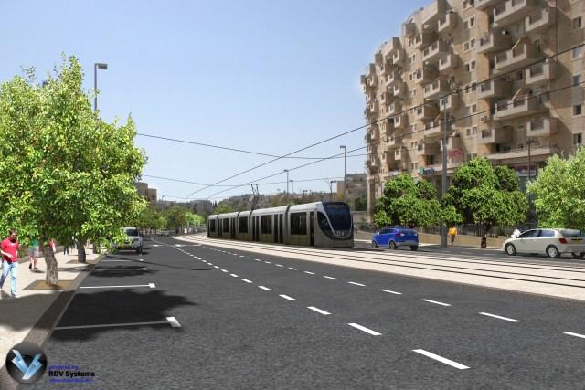 הדמית הרכבת בירושלים // צילום: צוות תוכנית אב לתחבורה ירושלים