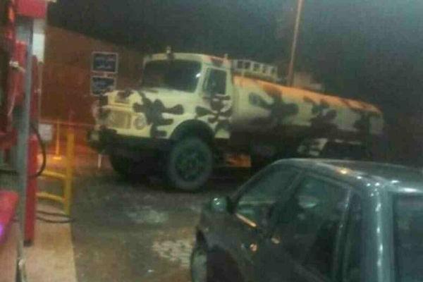 שביתת המשאיות - אנשי משמרות המהפכה מנסים לעשות סדר