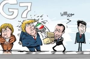 דיווח כי איראן מסרבת להסכם מול צרפת (קריקטורה : ההפתעה של צרפת לנשיא ארהב....[1])