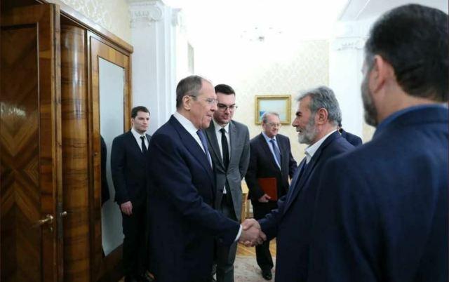 פגישת שר החוץ הרוסי לברוב על זיאד נאחלה