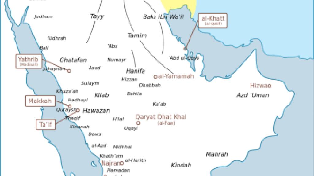 מאבקי השבטים הבדווים בחצי האי ערב, והשפעתם על הסהר הערבי בלבנט
