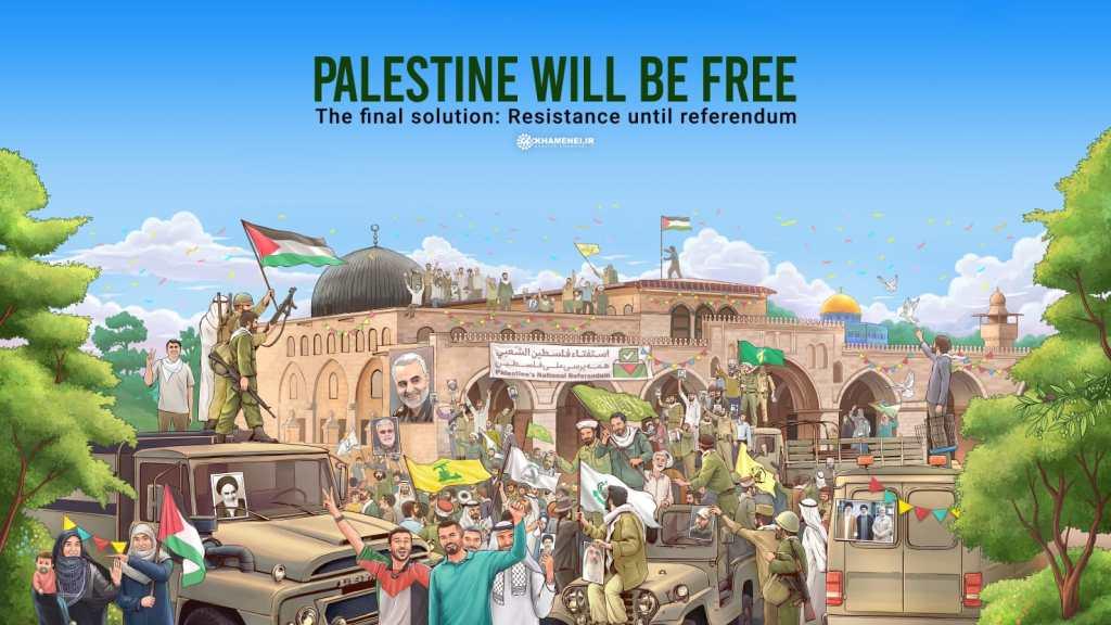 """חמינאי מציג: """"הפתרון הסופי"""" לבעיית פלסטין"""