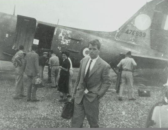 Kennedy arrives in Lydda Airport.