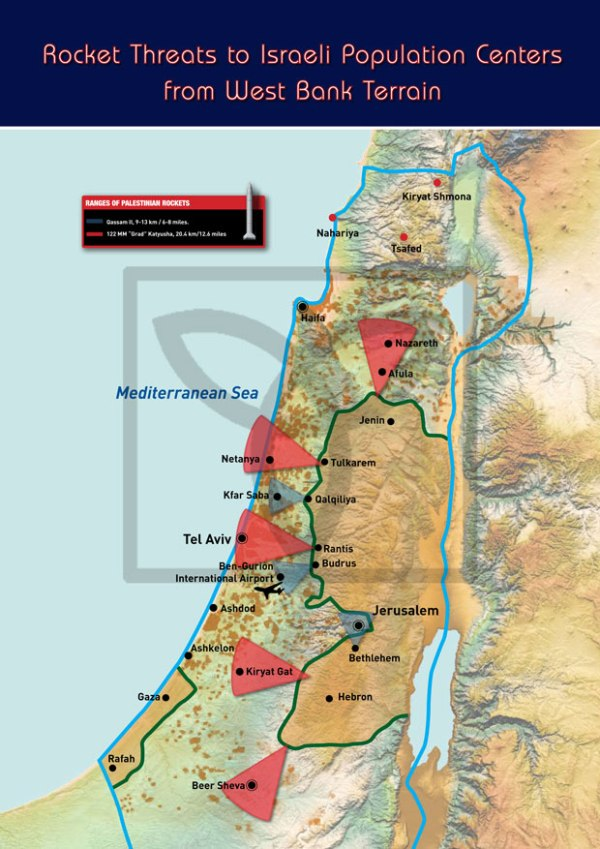 Rocket Threats to Israeli Population Centers from West Bank Territories