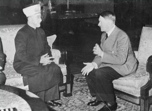 Grand Mufti Haj Amin al-Husseini meeting Adolf Hitler in 1940. (Government Press Office)