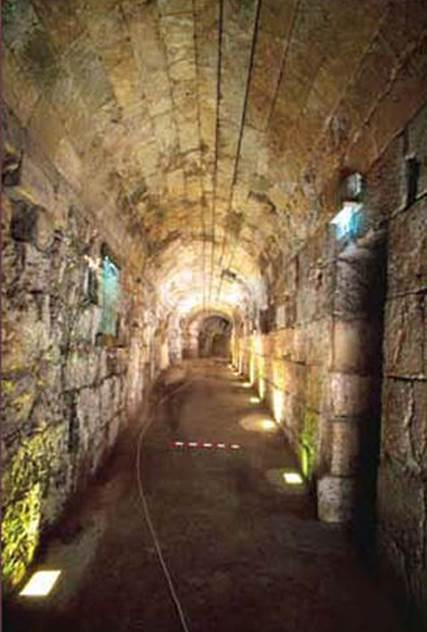 The access tunnel to the Western Wall Tunnel, which was uncovered for the entire length of its 488 meters. (courtesy of the Western Wall Heritage Foundation)
