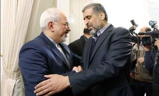 Iranian Foreign Minister Mohammad Javad Zarif and Palestinian Islamic Jihad leader Ramadan Shalah