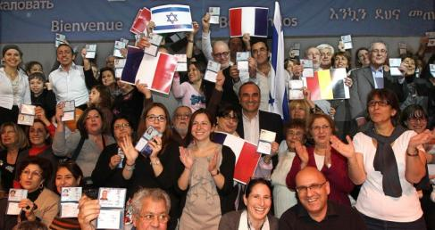 French Jews arriving in Israel in 2014