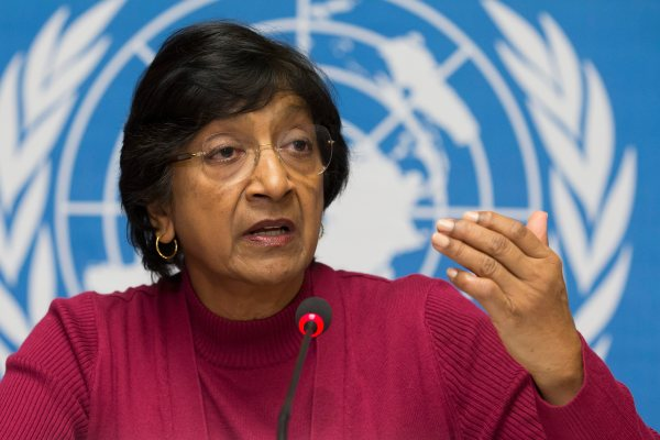 Navi Pillay, the UN High Commissioner for Human Rights, repeated Hamas' claims during the war that the overwhelming majority of casualties in Gaza were civilians. Her comments helped shape international public opinion, but were completely baseless. (AP Photo/Keystone, Salvatore Di Nolfi)