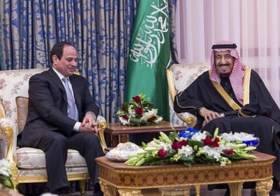 Egyptian President Sisi with Saudi King Salman