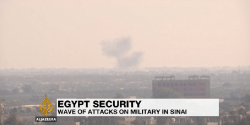 Egypt air force attack in northern Sinai