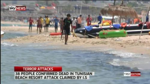 Terrorist in Tunisia (credit: Sky News)