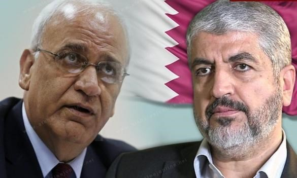 The PLO's Saeb Erekat and Hamas Khaled Mashal met in Qatar to discuss the convening of the PNC.