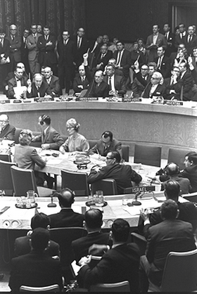 UN Security Council voting in 1967.