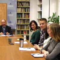 Interns with Amb. Dore Gold