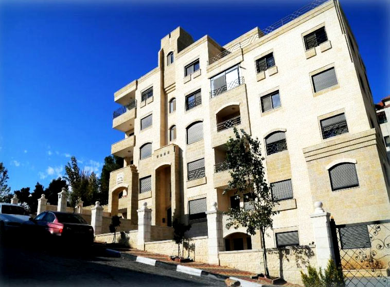 The Dubai building in Ramallah's upscale Al-Masyoun neighborhood