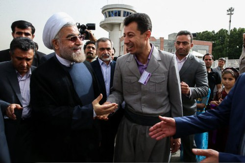 Rouhani campaigning in the Kurdish areas of Iran.