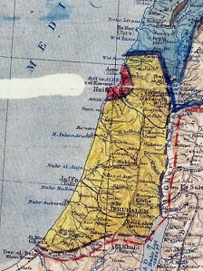 Palestine in Sykes-Picot map