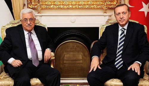 Palestinian Authority's Abbas and Turkey's Erdogan in 2014