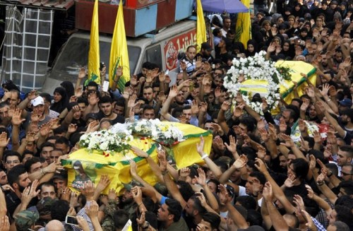 Funeral of Hizbullah fighters killed in Syria – February 26, 2016
