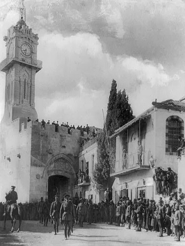 General Allenby entering Jerusalem December 11, 1917.