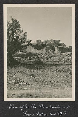 The Nebi Samuel shrine after the battle, 1917
