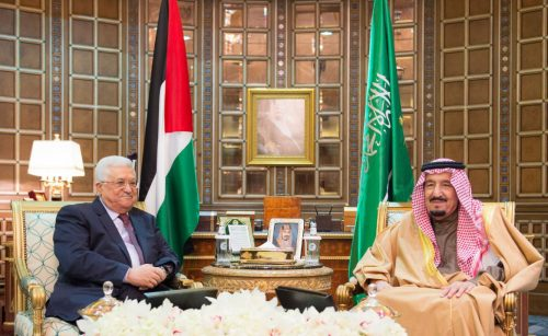 PA President Mahmoud Abbas received by King Salman in Riyadh Saudi Arabia, December 21, 2016.