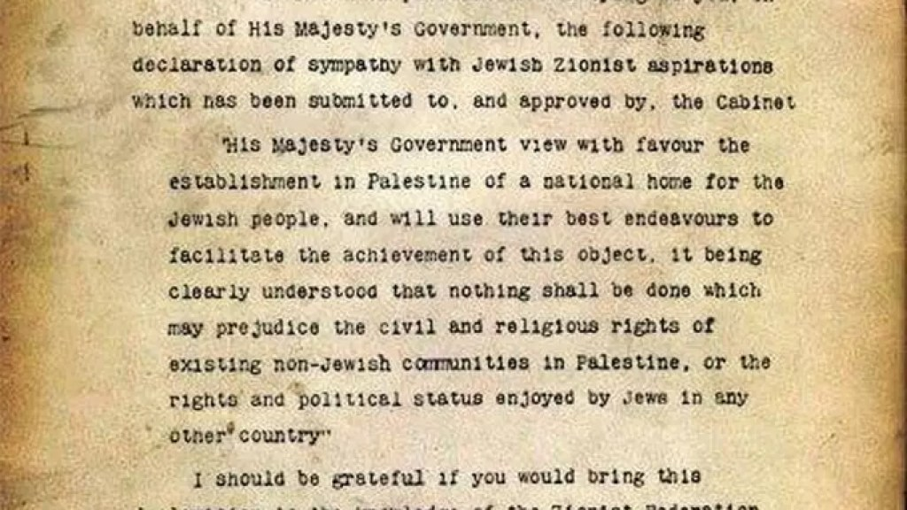 The Legal Veracity of the Balfour Declaration
