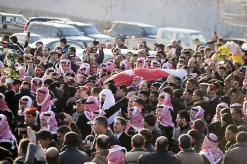 Funeral of Jordanian security officer after the Karak attack