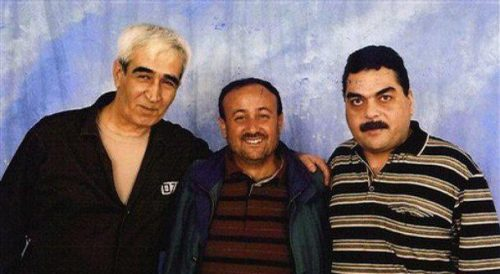 Barghouti (center), Samir Kuntar (right) and Ahmed Saadat (left).