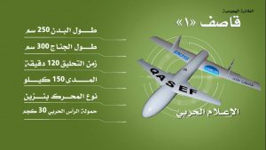 Qasef-1 (Striker-1) attack drone.
