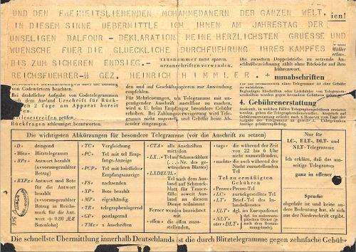 Heinrich Himmler's Telegram