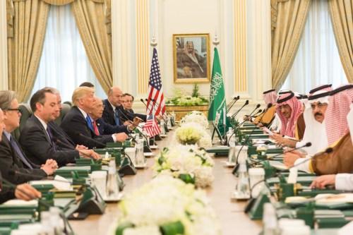 President Trump meeting with Saudi leaders in Riyadh