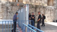 Metal Detectors on the entrance to the Temple Mount