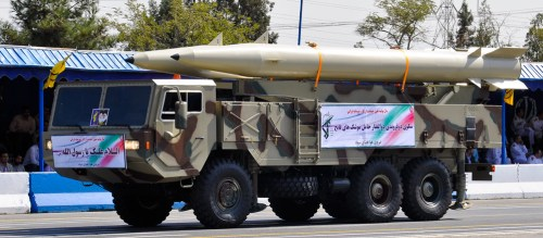 Fateh-110 missiles.