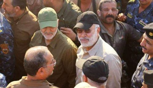 Maj.-Gen. Qassem Soleimani (left) and Abu Mahdi (right).