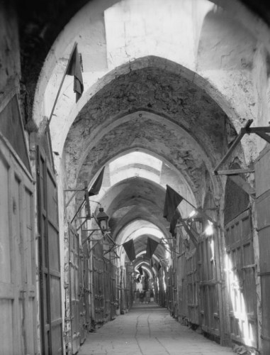 "Arab general strike in Jerusalem on ""Balfour Day,"" November 2, 1929."
