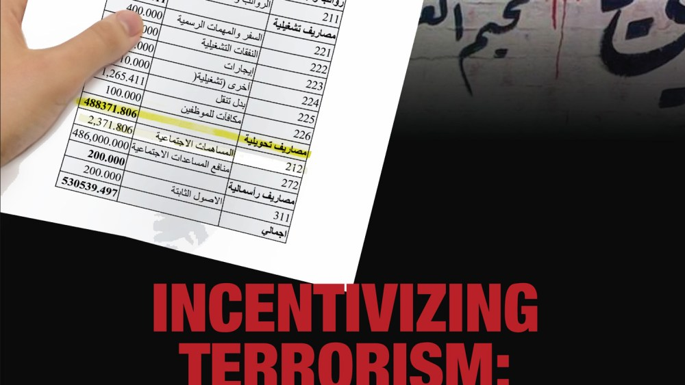 Incentivizing Terrorism: Palestinian Authority Allocations to Terrorists and their Families