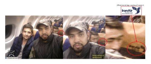Iranian fighters on board Iranian commercial flights heading to the Syrian front.