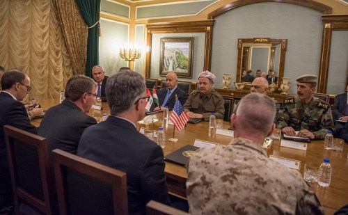 Masoud Barzani meets with Ash Carter