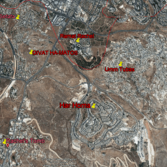 Location of Givat Hamatos in southern Jerusalem