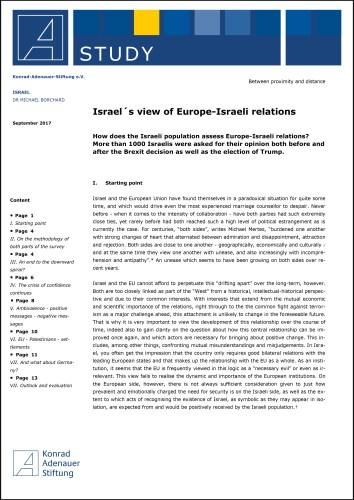 Israel's Views of Europe-Israeli Relations