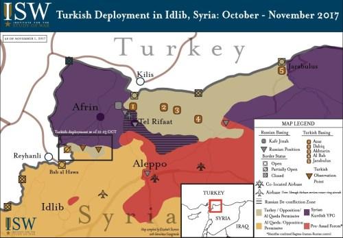 Map of Turkish Deployment in Idlib
