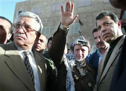 Mahmoud Abbas with Yasser Arafat and Muhammad Dahlan