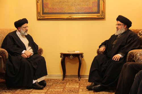 Seyyed Ebrahim Raisi with Hizbullah Secretary-General Hassan Nasrallah in Beirut.