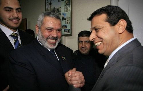 Ismail Haniyeh and Mohammed Dahlan